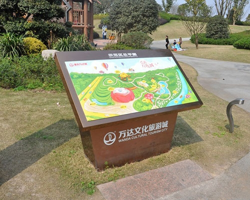 江西重庆万达文化旅游城标识标牌制作案例