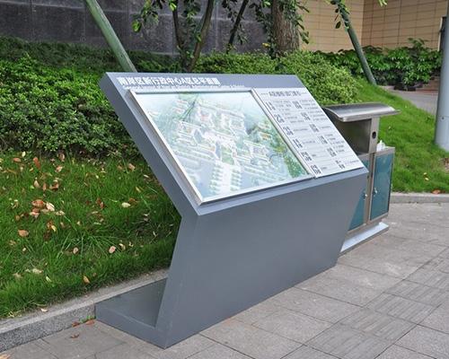 江西重庆南岸新区府导视系统标识牌制作案例